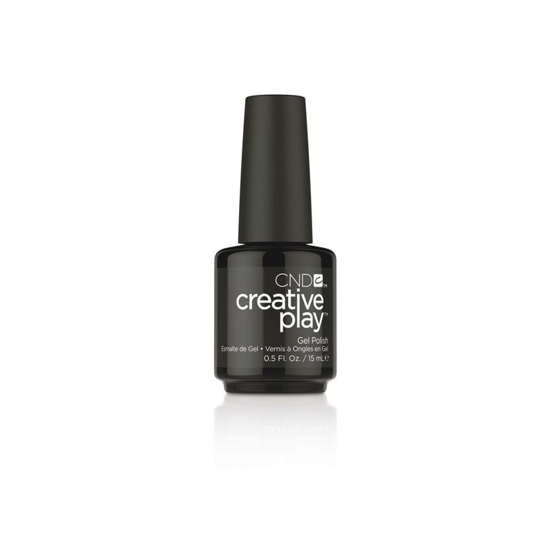 CND™ CREATIVE PLAY™ GEL POLISH BLACK FORTH #451