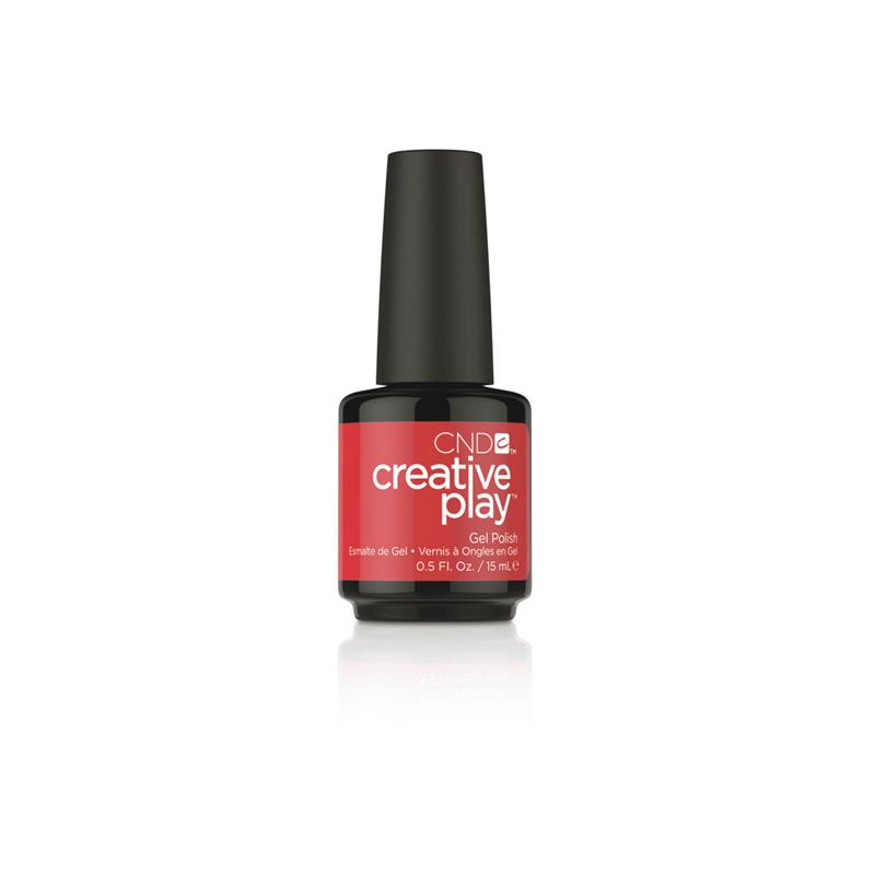 CND™ CREATIVE PLAY™ GEL POLISH RED Y TO ROLL #412