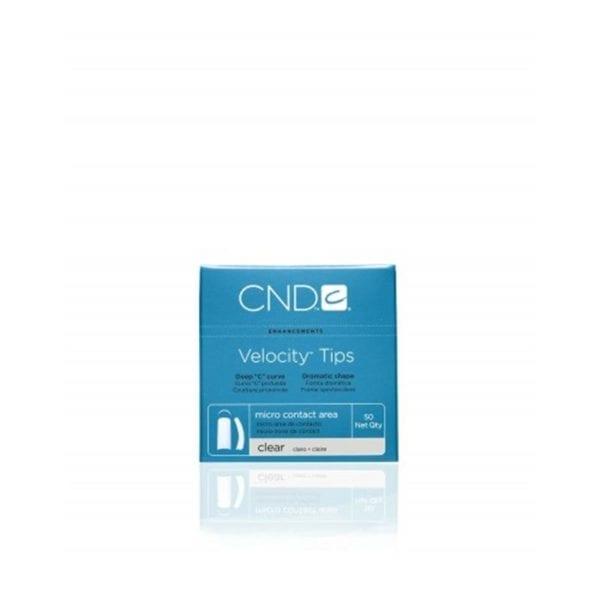 CND™ VELOCITY™ TIPS CLEAR Size 8 50-pk