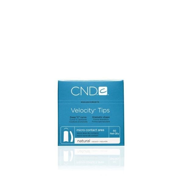 CND™ VELOCITY™ TIPS NATURAL Size 1 50-pk