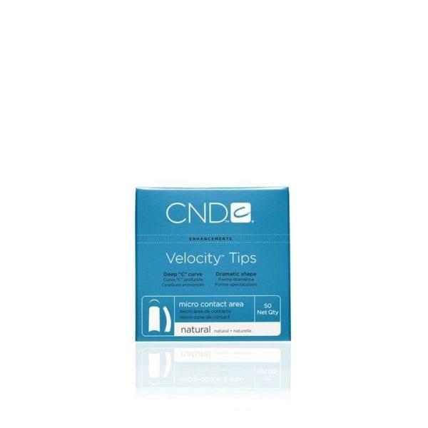CND™ VELOCITY™ TIPS NATURAL Size 8 50-pk