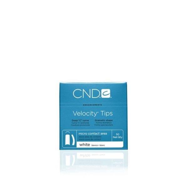 CND™ VELOCITY™ TIPS WHITE Size 10 50-pk